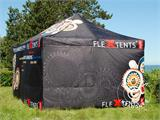 Pop up gazebo FleXtents PRO with full digital print, 4x8 m, incl. 4 sidewalls - 5
