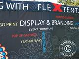 Pop up gazebo FleXtents PRO with full digital print, 4x8 m, incl. 4 sidewalls - 7