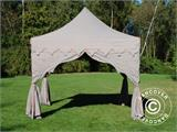 "Carpa plegable FleXtents PRO ""Raj"" 3x3m Latte/Naranja - 5"