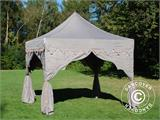"Carpa plegable FleXtents PRO ""Raj"" 3x3m Latte/Naranja - 6"