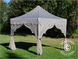 "Carpa plegable FleXtents PRO ""Raj"" 3x3m Latte/Naranja - 8"