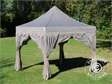 "Carpa plegable FleXtents PRO ""Raj"" 3x3m Latte/Naranja - 16"