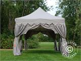 "Pop up gazebo FleXtents PRO ""Raj"" 3x6 m Latte/Orange - 2"