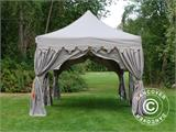 "Pop up gazebo FleXtents PRO ""Raj"" 3x6 m Latte/Orange - 5"