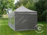 Carpa plegable FleXtents PRO 3x6m Latte, Incl. 6 lados - 3