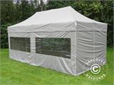 Carpa plegable FleXtents PRO 3x6m Latte, Incl. 6 lados - 4