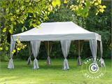 Pop up gazebo FleXtents PRO 4x6 m Latte, incl. 8 decorative curtains - 1