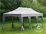 Pop up gazebo FleXtents PRO 4x6 m Latte, incl. 8 decorative curtains - 2