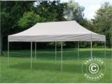Pop up gazebo FleXtents PRO 4x6 m Latte, incl. 8 decorative curtains - 6