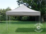 Pop up gazebo FleXtents PRO 4x6 m Latte, incl. 8 decorative curtains - 7