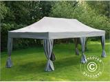 Vouwtent/Easy up tent FleXtents PRO 4x8m Latte, inkl. 6 decoratieve gordijnen - 1