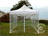 Tenda Dobrável FleXtents PRO 4x6m Transparente, incl. 8 paredes laterais - 1