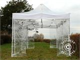 Tenda Dobrável FleXtents PRO 4x6m Transparente, incl. 8 paredes laterais - 2