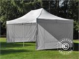 Visitor tent FleXtents PRO 4x6 m White, incl. 8 sidewalls and 1 transparent partition wall - 8