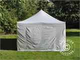 Visitor tent FleXtents PRO 4x6 m White, incl. 8 sidewalls and 1 transparent partition wall - 9