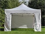 Visitor tent FleXtents PRO 4x6 m White, incl. 8 sidewalls and 1 transparent partition wall - 10