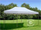 Visitor tent FleXtents PRO 4x6 m White, incl. 8 sidewalls and 1 transparent partition wall - 11