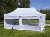 Visitor tent FleXtents PRO 3x6 m White, incl. 6 sidewalls and 1 transparent partition wall - 1