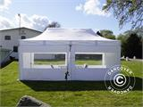 Visitor tent FleXtents PRO 3x6 m White, incl. 6 sidewalls and 1 transparent partition wall - 2