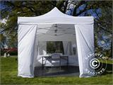 Visitor tent FleXtents PRO 3x6 m White, incl. 6 sidewalls and 1 transparent partition wall - 3