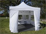 Visitor tent FleXtents PRO 3x6 m White, incl. 6 sidewalls and 1 transparent partition wall - 4