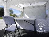 Visitor tent FleXtents PRO 3x6 m White, incl. 6 sidewalls and 1 transparent partition wall - 7