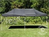 Visitor tent FleXtents PRO 3x6 m Black, incl. 6 sidewalls and 1 transparent partition wall - 12
