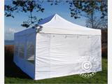 Vouwtent/Easy up tent FleXtents PRO 4x6m Wit, inkl. 8 Zijwanden - 2