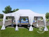 Quick-up telt FleXtents PRO 4x6m Hvit, inkl. 8 sider & dekorative gardiner - 1