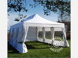 Quick-up telt FleXtents PRO 4x6m Hvit, inkl. 8 sider & dekorative gardiner - 3