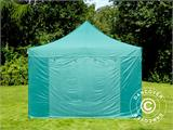 Vouwtent/Easy up tent FleXtents PRO 4x6m Groen, inkl. 8 Zijwanden - 1