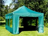 Vouwtent/Easy up tent FleXtents PRO 4x6m Groen, inkl. 8 Zijwanden - 5