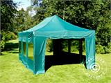 Vouwtent/Easy up tent FleXtents PRO 4x6m Groen, inkl. 8 Zijwanden - 6