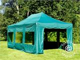 Vouwtent/Easy up tent FleXtents PRO 4x6m Groen, inkl. 8 Zijwanden - 7