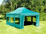 Vouwtent/Easy up tent FleXtents PRO 4x6m Groen, inkl. 8 Zijwanden - 8