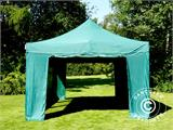 Vouwtent/Easy up tent FleXtents PRO 4x6m Groen, inkl. 8 Zijwanden - 9