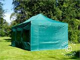 Vouwtent/Easy up tent FleXtents PRO 4x6m Groen, inkl. 8 Zijwanden - 12