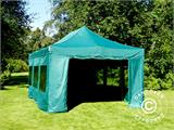 Vouwtent/Easy up tent FleXtents PRO 4x6m Groen, inkl. 8 Zijwanden - 13