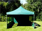 Vouwtent/Easy up tent FleXtents PRO 4x6m Groen, inkl. 8 Zijwanden - 14