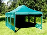 Vouwtent/Easy up tent FleXtents PRO 4x6m Groen, inkl. 8 Zijwanden - 15