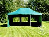 Vouwtent/Easy up tent FleXtents PRO 4x6m Groen, inkl. 8 Zijwanden - 17