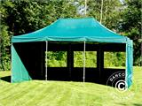 Vouwtent/Easy up tent FleXtents PRO 4x6m Groen, inkl. 8 Zijwanden - 18