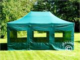 Vouwtent/Easy up tent FleXtents PRO 4x6m Groen, inkl. 8 Zijwanden - 25