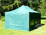 Vouwtent/Easy up tent FleXtents PRO 4x6m Groen, inkl. 8 Zijwanden - 26