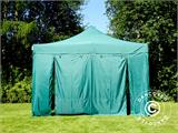 Vouwtent/Easy up tent FleXtents PRO 4x6m Groen, inkl. 8 Zijwanden - 29