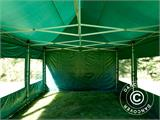 Pop up gazebo FleXtents Xtreme 50 4x6 m Green, incl. 8 sidewalls - 2