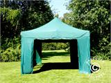 Pop up gazebo FleXtents Xtreme 50 4x6 m Green, incl. 8 sidewalls - 4