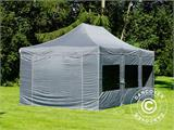 Pop up gazebo FleXtents PRO 4x6 m Grey, incl. 8 sidewalls - 1