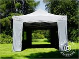 Pop up gazebo FleXtents PRO 4x6 m Grey, incl. 8 sidewalls - 10
