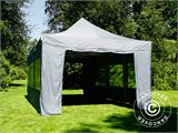 Pop up gazebo FleXtents PRO 4x6 m Grey, incl. 8 sidewalls - 11